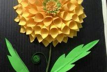 Hajtogatós papír virágok,pillangok