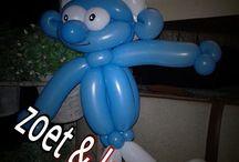 Ballon figuren zoet & leuk / Ballon figuren gemaakt door zoet & leuk