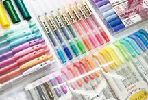 Pen and pencil and pencilcases