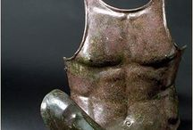 Ancient armours Greek armours / Greek samnite belt - Greek bronze armour - Greek muscled cuirass - Greek anatomical cuirass - Greek bell type cuirass -  Greek panoply - Greek bronze greaves