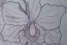 Moldes de flores pared