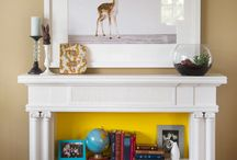 Mantel bookshelf / by Amanda Sellers
