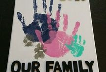 Handprint canvas family
