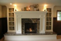 remodel ideas for hearth & stair rails / by Laura Bagozzi