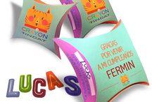 TINCAT / CRAYONES con formas, juguetes, tazas almohadones. De diseño.