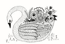 Swans / by Wolf Whistle - Illustrated Wedding Stationery