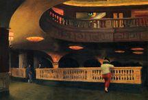 Theatres Depicted / Theatres depicted in various art medias.