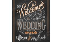 wedding welcome board design