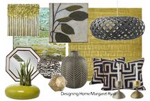 Designing Home: Style boards / Sampling of client style boards and experimenting