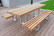 Mardyke Estate Project (Rainham) / These benches and picnic table were created using a combination of galvanised steel and FSC® timber for Balfour Beatty - Mardyke Estate, Rainham