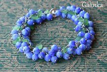 Bracelet / handmade, bracelet, berries, rękodzieło, biżuteria, bransoletka