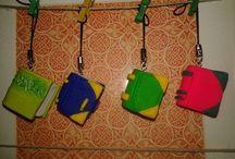 Llaveros de arcilla polimérica / Llaveros hechos con arcilla polimérica, de personajes, para ocasiones especiales, personalizados...