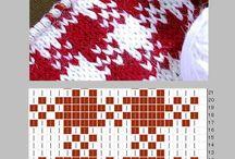 編み込み模様棒針