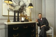 David Hicks / An artist interior designer left his mark on the world in some of the most intriguing interior designs which have influenced not only architecture and home design but also fashion and apparel.