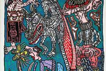 ROBERT COMBAS / Robert Combas, né à Lyon en 1957, fut élève aux Beaux-Arts de Sète puis de Montpellier. Les œuvres présentées lors de ventes aux enchères suscitent toujours l'intérêt du public et des collectionneurs.