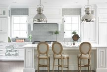 Kitchen / White w/black & soft gray accents.  / by Vickie