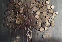 árboles con monedas