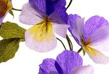 flori hirtie creponata