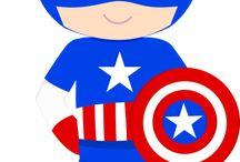 clipart superheroes