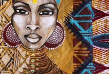 Art of Africa / African art, art inspired by Africa -painting, mixed media, drawing, creating.