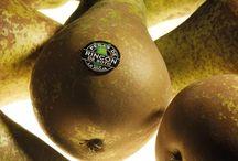 C.R.D.O.P. Peras de Rincón de Soto / Las Peras de Rincón de Soto se comercializan envasadas y etiquetadas con el distintivo Peras de Rincón de Soto. Cuyo uso es exclusivo para las peras de esta Denominación de Origen.