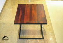 Side Table / Finger joint Sisu Wood used on top of Side Table #Termiteproof #Borerproof #Fingerjoint