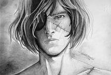 My drawings of Captain Harlock / I dedicate my art to him; my hero, my inspiration. https://www.facebook.com/A.H.Zubenelgenubi/