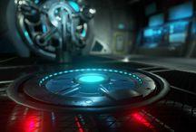 Sci Fi Engine Room
