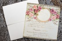 stylish classic vintage invitations
