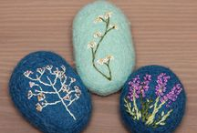 Wool covered stones