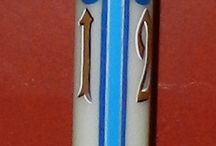Paschal Candles... / Easter candles I've painted....