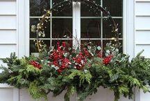 karácsonyi ablak dekorációk
