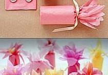 kwiaty z rolek