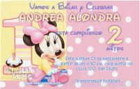 Disney baby minnie mouse birthday invitations