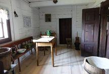 Wnętrza starych chat
