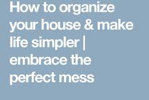 House organisation ideas
