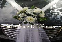 arreglos florales para carros / arreglos para carros de bodas, xv años novedosos y sobretodo diver
