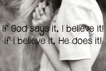 Believe, faith, love