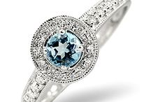 Blue Topaz Engagement Rings / Only topaz from Brazil has that piercing blue, luminescent quality that will light up your look with luxury. From exquisitely cut birthstone gems to elegant engagement rings, our collection exudes rare and exotic beauty...