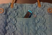 knitting & crochet - bags / bags, totes, market bags, bracelets - the ones I like and maybe might make one!