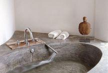banheiros de cimento