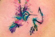 Tatuaggi Con Acquarelli