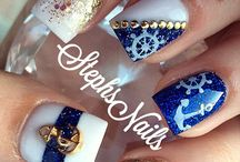 """summer nails """"navy""""style"""