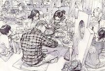 작가들 그림 / 고퀄 스케치 그림들을 한곳에 모아둠