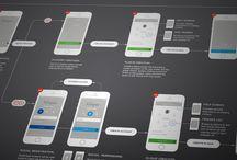 UI- wireframing / by Caity Corbin