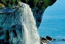 Gyönyörű vízesések