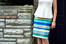 Pencil skirt chic / Ideas on how to wear a pencil skirt