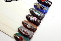 Nail design jewels