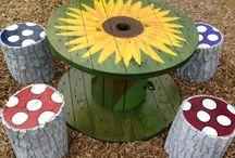 mesas reciclables