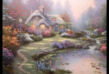 Thomas Kinkade Cottages / by Gerry Golia